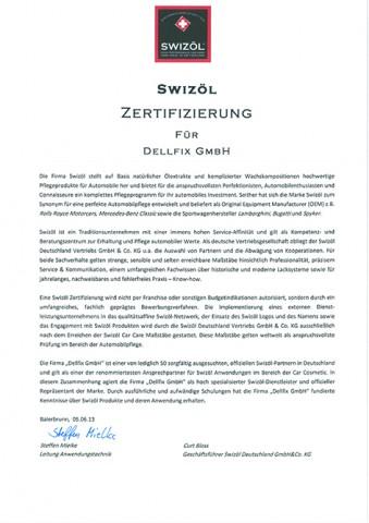 Swizöl Zertifikat